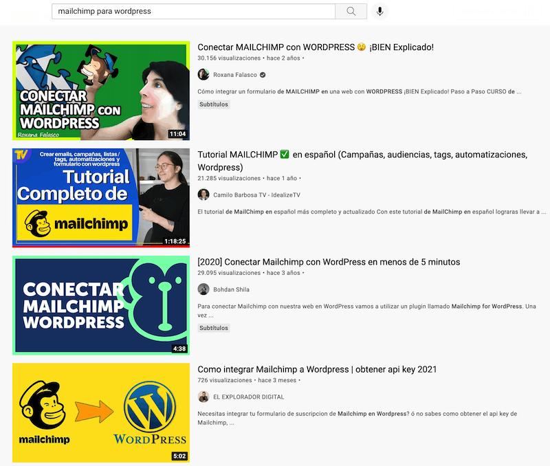 Miniaturas competencia en Youtube